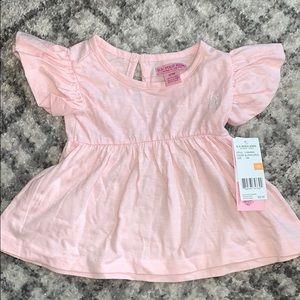 Baby girl ruffle sleeve top